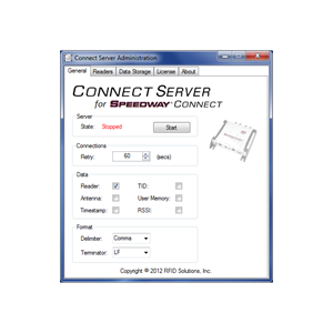 Connect Server for Speedway Connect RFID Software Application